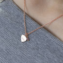 Personalised Rose Gold Heart Pendant