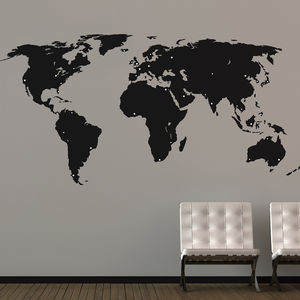 World Map Wall Stickers - bedroom