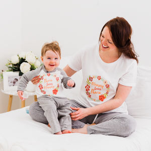 Personalised Mother's Day Mummy And Me Floral Pyjamas - clothing