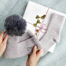 Women's Hat And Bed Sock Winter Gift Set