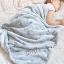 Personalised Heart Print Thick Fleece Blanket