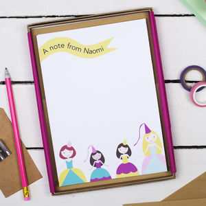 Personalised Princess Children's Writing Set - stationery sale