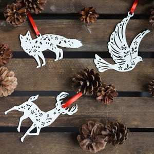 Scandi Christmas 'Woodland Creatures' Baubles - christmas decorations