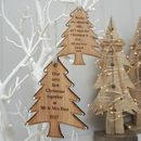 Double Sided Oak First Christmas Tree With Message