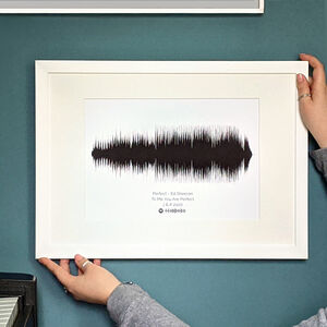 Personalised Favourite Song Sound Wave Print Unframed