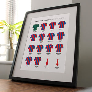 Personalised Junior Football Team Kits Print - posters & prints