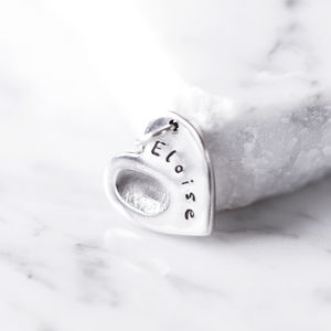 Personalised Fingerprint Charm - tokens & keep sakes