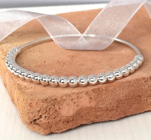25th Silver Wedding Anniversary Gift Bangle
