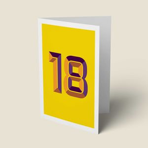 '18' 18th Birthday Card