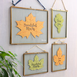 Personalised Botanical Leaf Framed Art - artisan edit
