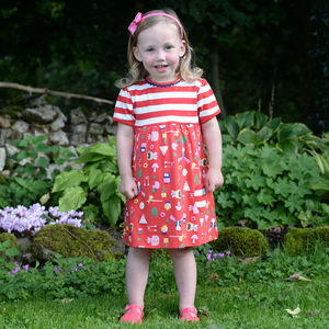 Red Girls Adventure Camping Dress - clothing