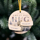 Personalised 'Sending A Hug' Christmas Bauble