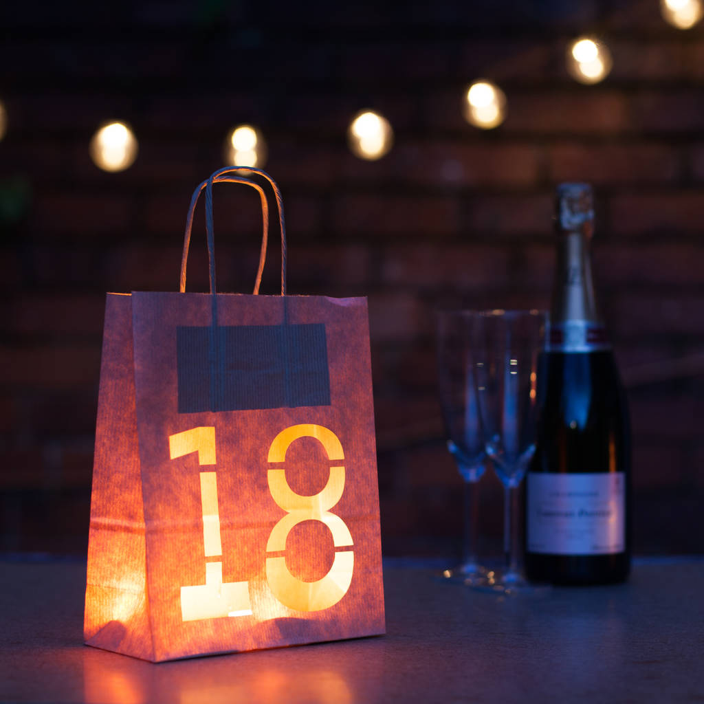 18th Birthday Bold Lantern Bag Party Decoration By Baloolah Bunting