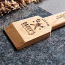 Personalised Solid Oak Bbq Grill Scraper