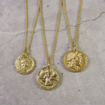 Roman Coin Necklace Gold