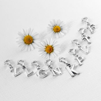 Initial Charms In Sterling Silver