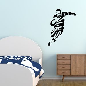 Tribal Rugby Wall Sticker - wall stickers