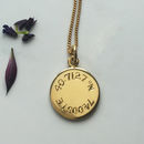Latitude And Longitude Necklace In Gold