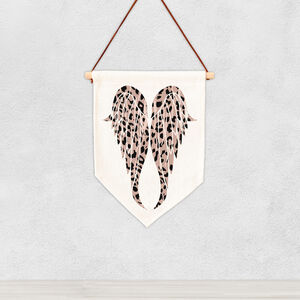 Animal Print Angel Wing Wall Hanging