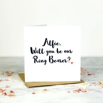 Personalised Will You Be Our Ring Bearer Card