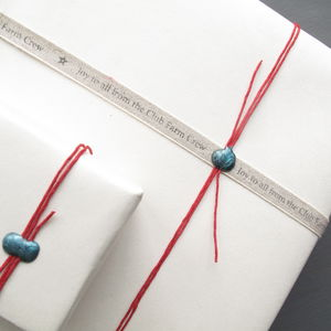 Personalised Linen Ribbon - ribbon & wrap