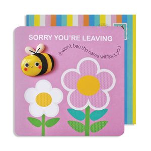 Leaving Bee Jelly Magnet Card