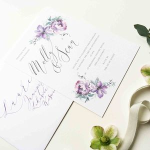 Floral Illustrated Wedding Invitation - what's new
