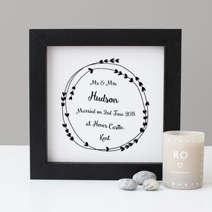 Personalised Wedding Gift - posters & prints