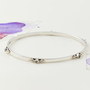 Divinity Princess Stacking Bangle - bracelets & bangles