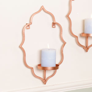 Copper Wall Candle Holder Scounce