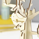 Personalised Wooden Family Tree With Birds
