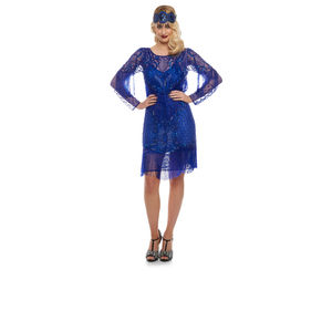 Frida 20s Inspired Flapper Dress With Sleeves - flapper dresses