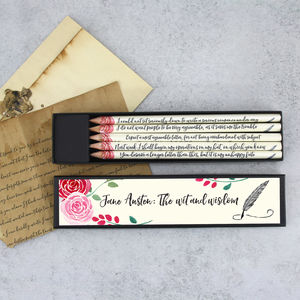 The Wit And Wisdom Of Jane Austen Pencil Set - pens & pencils