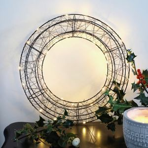 Christmas LED Wire Wreath Light Decoration