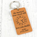 Time Stood Still Memorable Time Leather Keyring