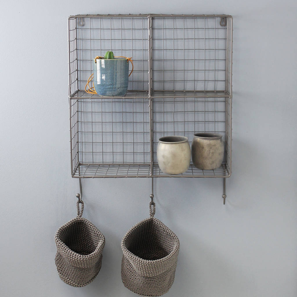 Very best wire cube wall rack with hooks by marquis & dawe  PL59