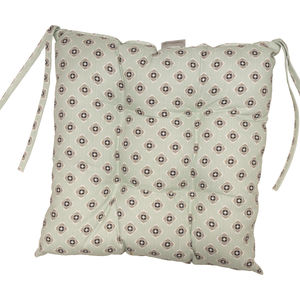 Garden Green Grey Chair Pad - bedroom