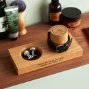 Personalised Gent's Solid Oak Watch Stand