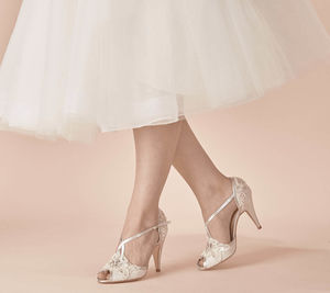 Wedding Shoe Charlotte In Ivory Lace