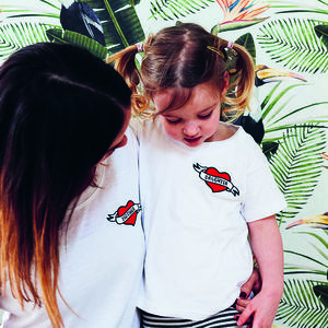 Mummy And Me Heart Badge T Shirts - gifts for single mums