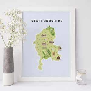 Map Of Staffordshire - what's new