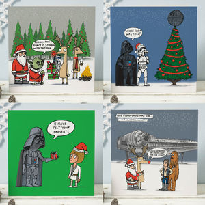 Star Wars Christmas Card Four Pack - funny christmas cards