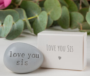 'Love You Sis' Message Token Letterbox Gift