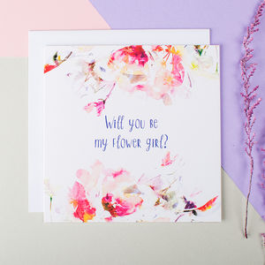 'Will You Be My Flower Girl?' Card