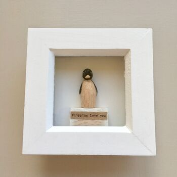 Love You Penguin Framed Picture