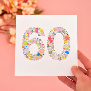 Girlie Things 60th Birthday Card