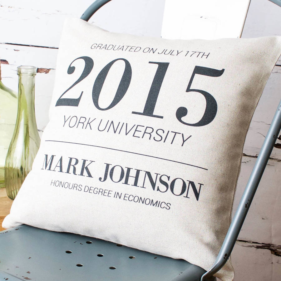 graduation cushion cover by vintage designs reborn ...