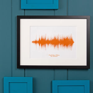 Personalised Favourite Song Sound Wave Print - gifts for him