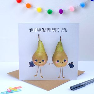 Perfect Pear Wedding Card Males