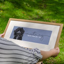Personalised Bespoke Illustrated Portrait Of Your Dog